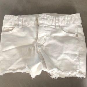 Girls white shorts